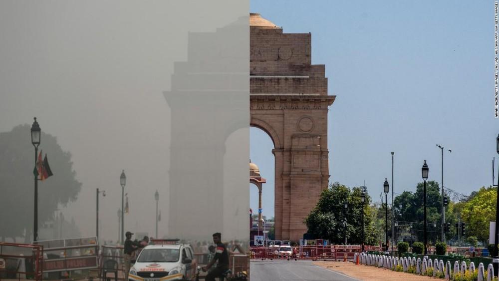 Хөл хорионы дүнд Энэтхэгт анх удаа тэнгэр нь цэлмэж, цэнхэртэж эхэлжээ