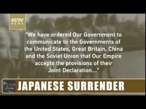 Япон улс бууж өгч буй түүхэн бичлэг