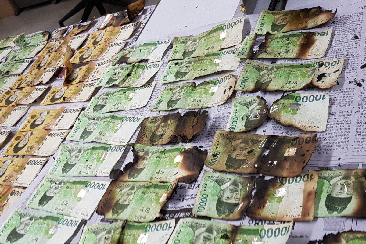 Цар тахлын үеэр Өмнөд Солонгосын иргэд их хэмжээний бэлэн мөнгөө ариутгалын явцад устгажээ