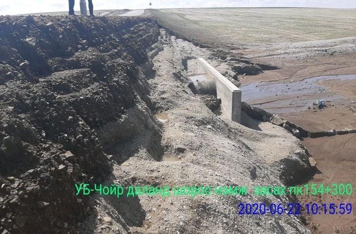 Үерийн улмаас эвдрэл үүссэн Чойр чиглэлийн зам, Бөхөгийн голын гүүрийг бүрэн засварлаж дуусжээ