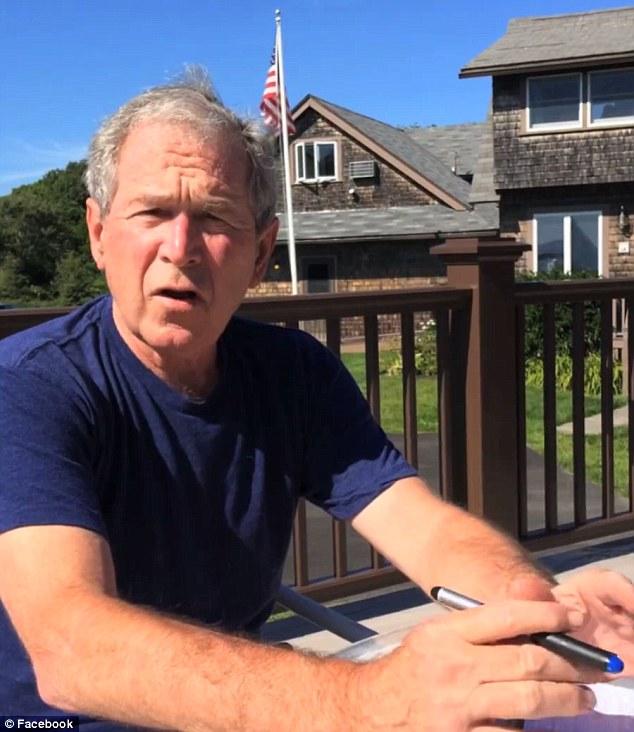 """АНУ-ын Ерөнхийлөгч асан Жорж Буш """"Мөсөн усны сорилт""""-д нэгдлээ"""