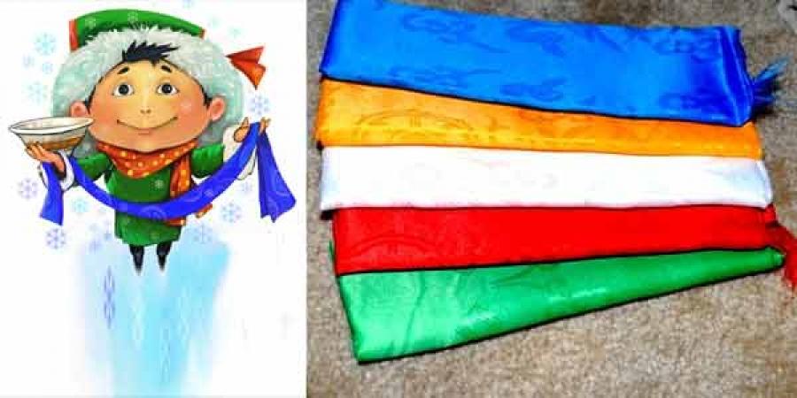 """""""Таван өнгийн хадаг""""-ны бэлгэдэл, мөн чанар"""