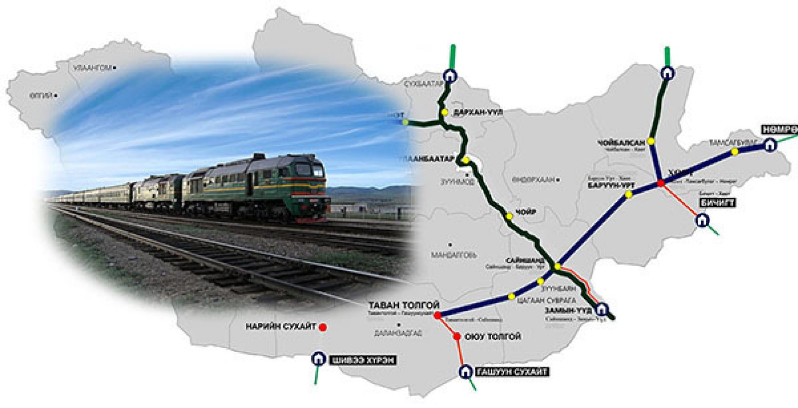 Монголоор дамжсан төмөр замын ачаа тээвэр хоёр дахин нэмэгджээ