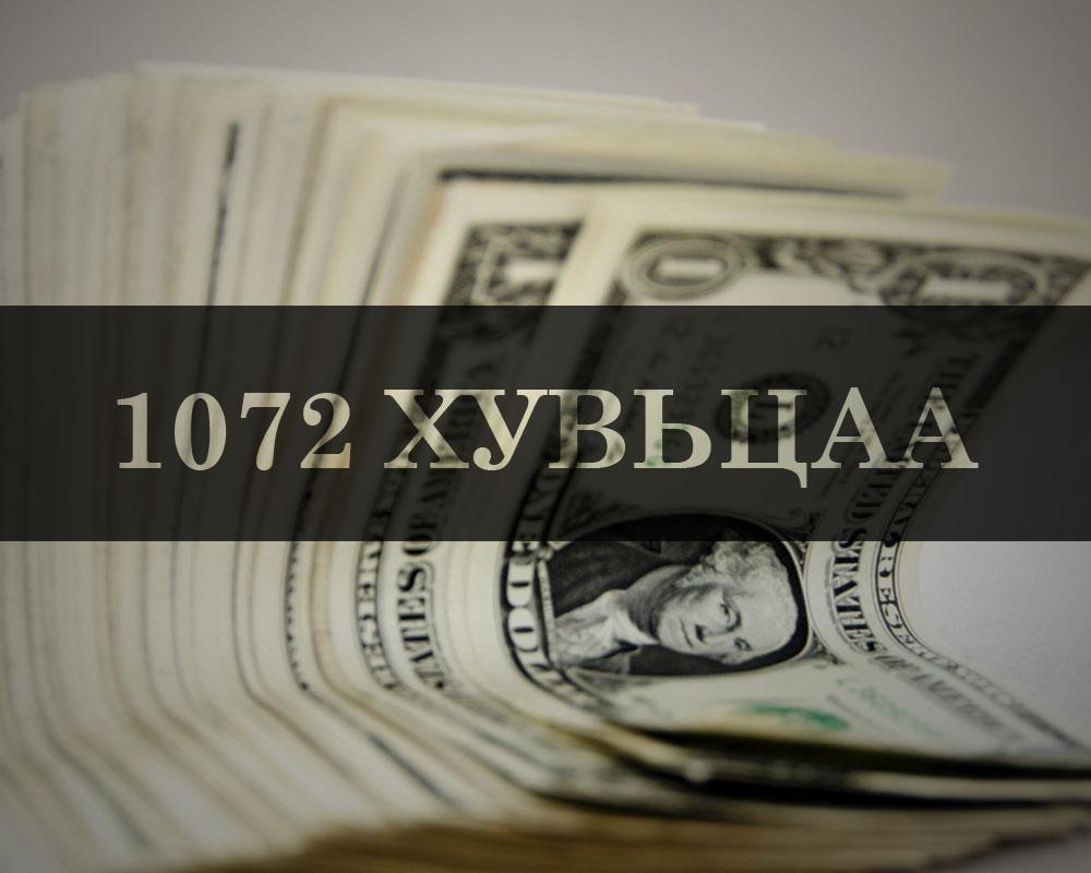 Таны 1072 хувьцаа дэлхийн зах зээл дээр хэдэн төгрөгний үнэтэйг мэдэх үү ?