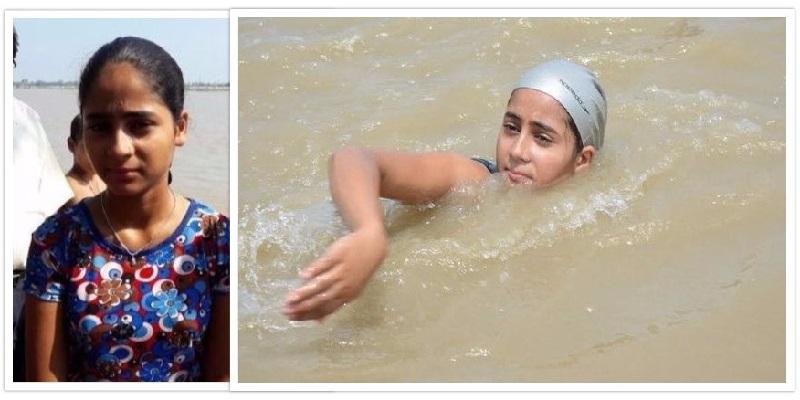 11 настай охин Ганга мөрний төлөө 550 километр сэлнэ