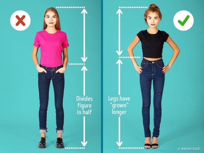 Хувцсаа зөв тохируулан өмссөнөөр өндөр харагдах боломжтой