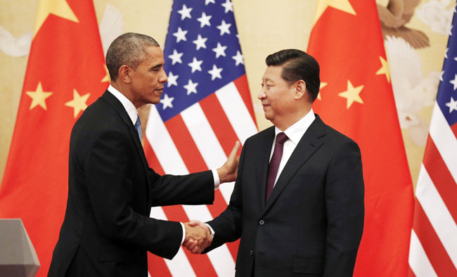 Си даргын айлчлал ба АНУ, Хятадын сөргөлдөөн