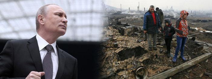 В.Путин түймэрт өртсөн Хакасид хүрэлцэн ирэв