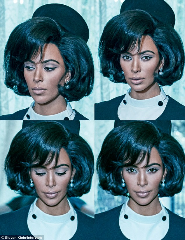 """Ким Кардашиан Жон Кеннедигийн эхнэрийн дүрээр """"Interview"""" сэтгүүлийн тэргүүн нүүрэнд заларлаа"""