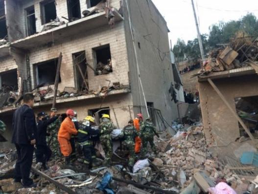 Хятадад барилгад дэлбэрэлт болсны улмаас олон хүн амиа алджээ