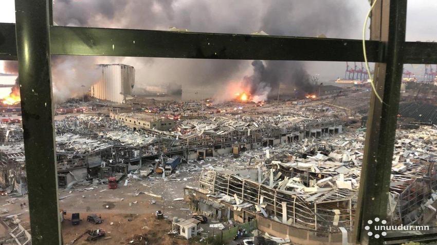 Бейрут хотод хүчтэй дэлбэрэлт болж 78 хүн амь үрэгдэж, 3,7 хүн шархаджээ