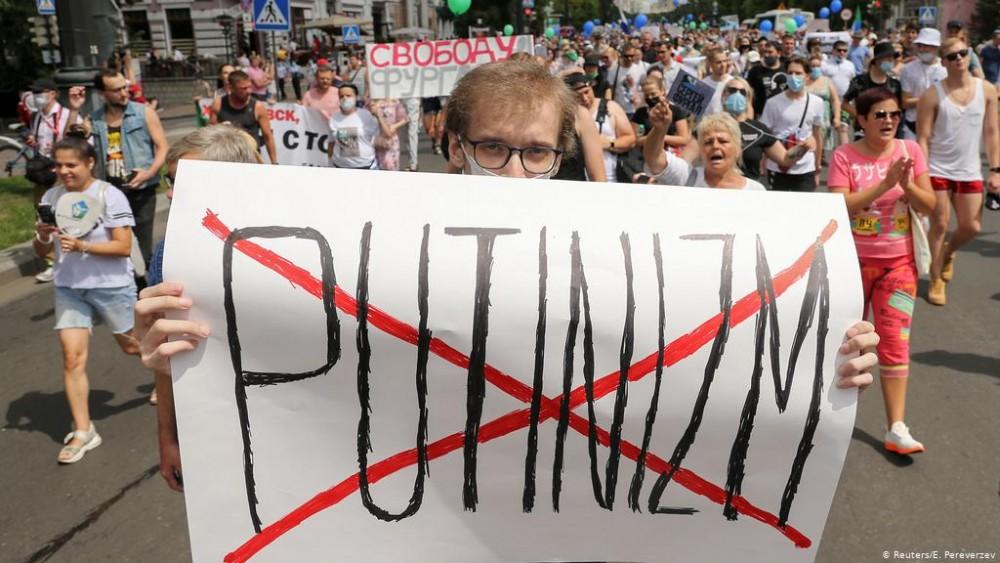 Путиныг эсэргүүцсэн жагсаал Орос улс даяар 35 дахь хоногтоо үргэлжилж байна