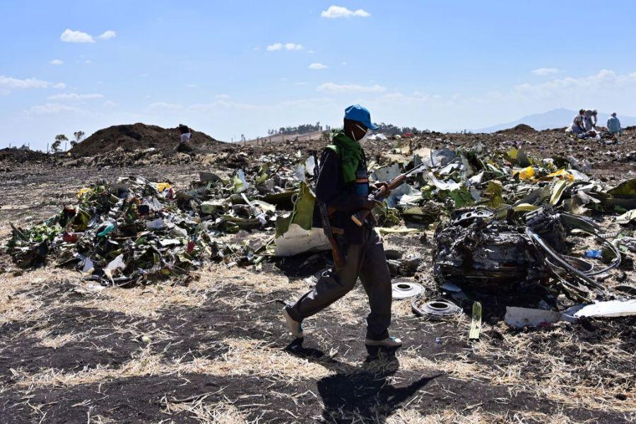 Этиоп, Индонезид гарсан нисэх онгоцны осолд ижил төстэй тал ажиглагджээ