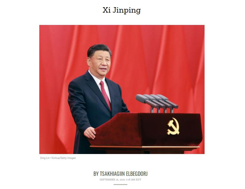 """""""Time"""" сэтгүүл Си Жиньпиний талаарх Ц.Элбэгдоржийн бичвэрийг онцолжээ"""