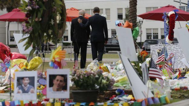 Обама хохирогчдод хүндэтгэл үзүүлэв