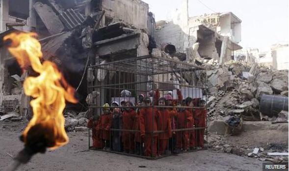 Исламын улсынхан Сири хүүхдүүдийг шатаах уу