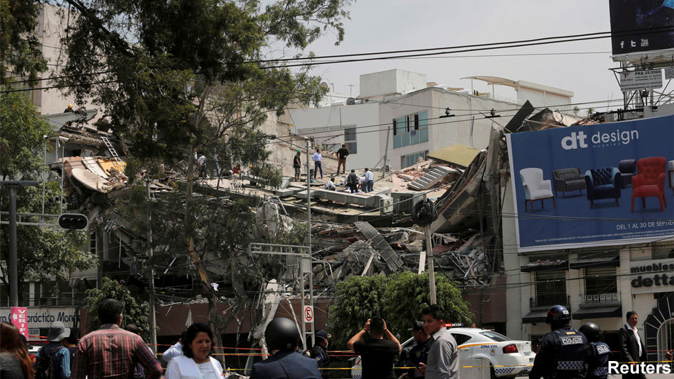 Мексикт болсон газар хөдлөлт 230 хүний аминд хүрчээ