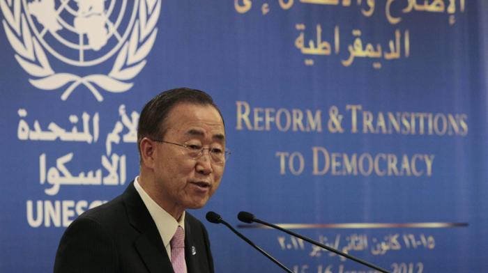 Барак Обама болон Бан Ги Мун нар Ливантын лалын улсын дайралтыг эсэргүүцэх талаар зөвлөлдөв