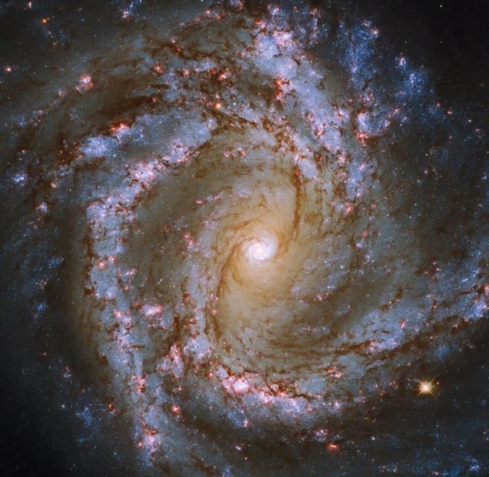 """""""Hubble"""" хэт хүнд масстай хар нүх бүхий мушгиа галактикийн зургийг буулгажээ"""