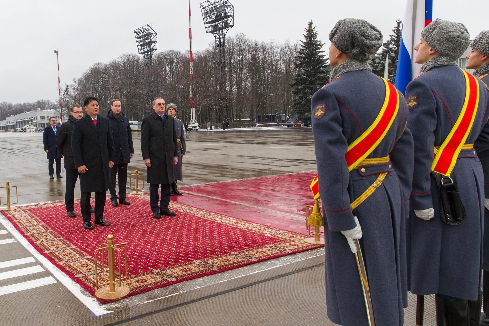 Монгол Улсын Ерөнхий сайд У.Хүрэлсүхийн Оросын Холбооны Улсад хийх албан ёсны айлчлал эхэллээ