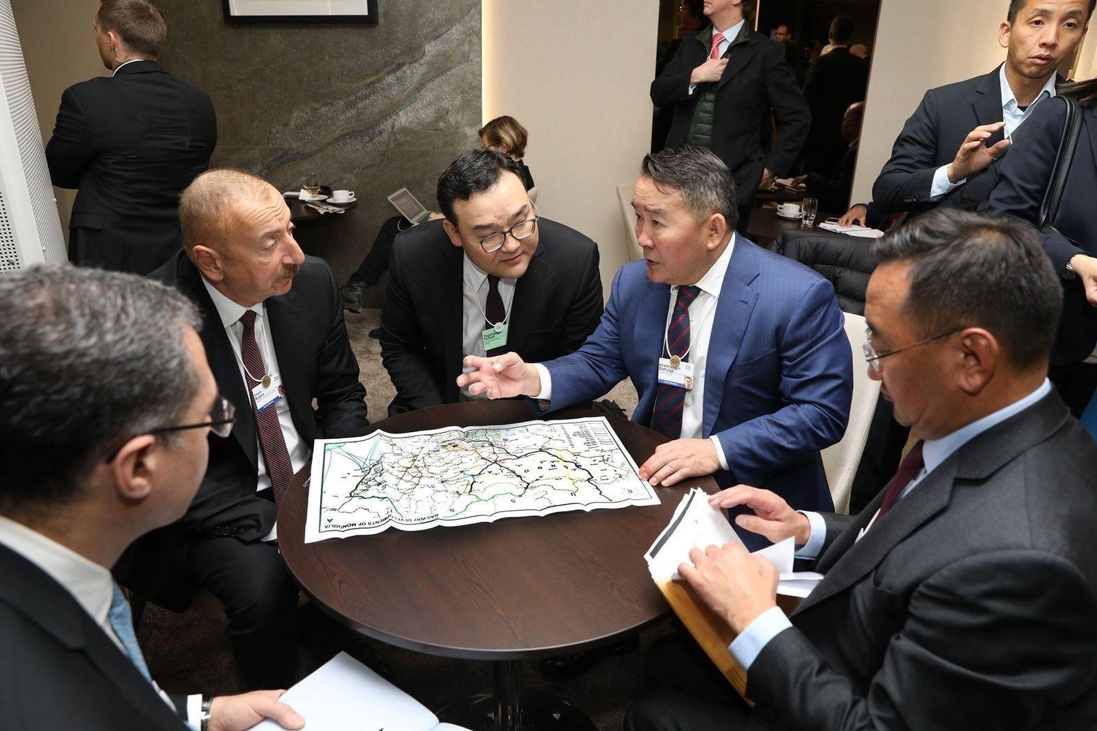 Монгол Улсын Ерөнхийлөгч Х.Баттулга Азербайжан улсын Ерөнхийлөгч Илхам Алиев нар уулзав