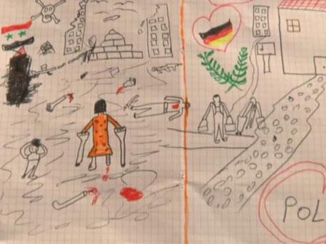 Сирийн дүрвэгч хүүхдийн зурсан зураг дэлхийг цочирдууллаа