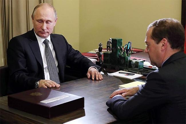 Путин цалингаа хасуулав