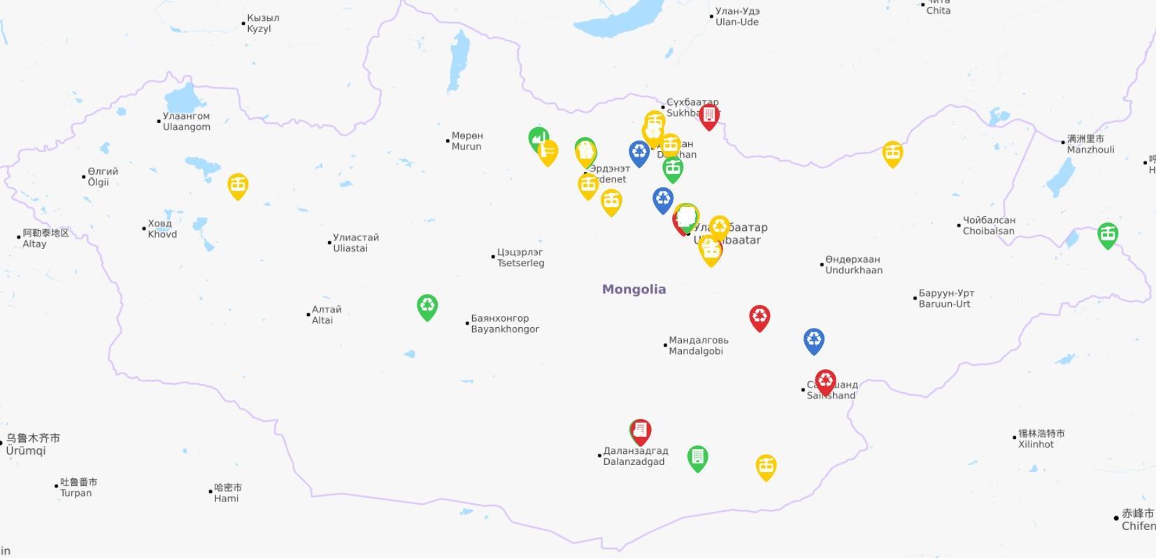 Монгол Улсын Хөгжлийн банкнаас шууд санхүүжүүлсэн төслүүд
