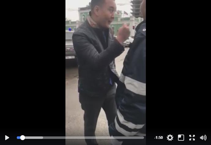 Маяактай машин унасан этгээд замын цагдаагийн өмнөөс салаавч гаргаж танхайрчээ /Видео/