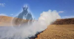 Шилийн богдод бөөгийн зан үйл хийсэн хүмүүс түймэр тавьжээ
