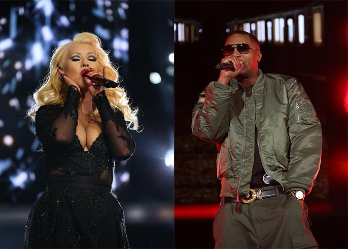 NBA Бүх оддын тоглолт нээлт Kristina Aguilera болон Nas Intro