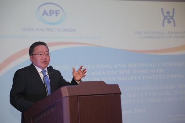 """Ц.Элбэгдорж: Хүний эрхийн асуудлаар Монгол Улс үргэлж """"За"""" гэж хэлнэ"""