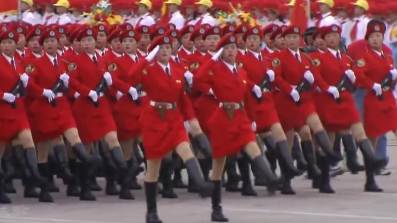 Маргаашийн парадад хятадын эмэгтэй дайчид ингэж жагсана (видео)