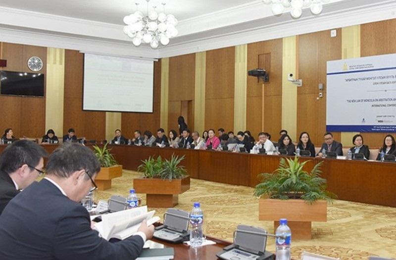 """""""Арбитрын тухай Монгол Улсын хууль ба Олон Улсын стандарт"""" сэдэвт олон улсын бага хурал болов"""