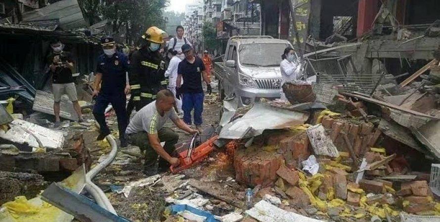 Хятадад зах дээр хий дэлбэрч, 11 хүн амиа алджээ