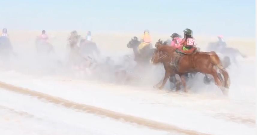 Хурдан морины уралдааны аймшигт бичлэг /Видео/