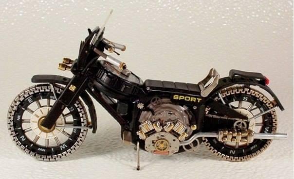 Хуучин цагаар хийсэн мотоцикль
