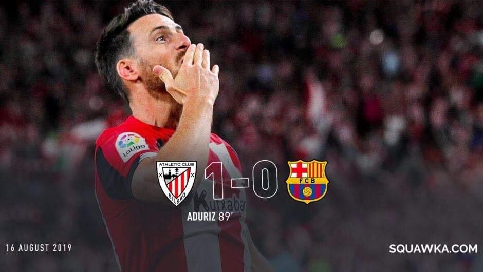 """Мессигүй """"Барселон"""" Ла Лигийн улирлын эхний тоглолтод хожигдлоо"""