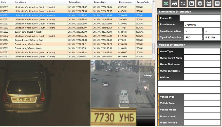 01-р сарын 22-ны өдөр замын хөдөлгөөний дүрэм зөрчсөн жолооч нарын мэдээлэл