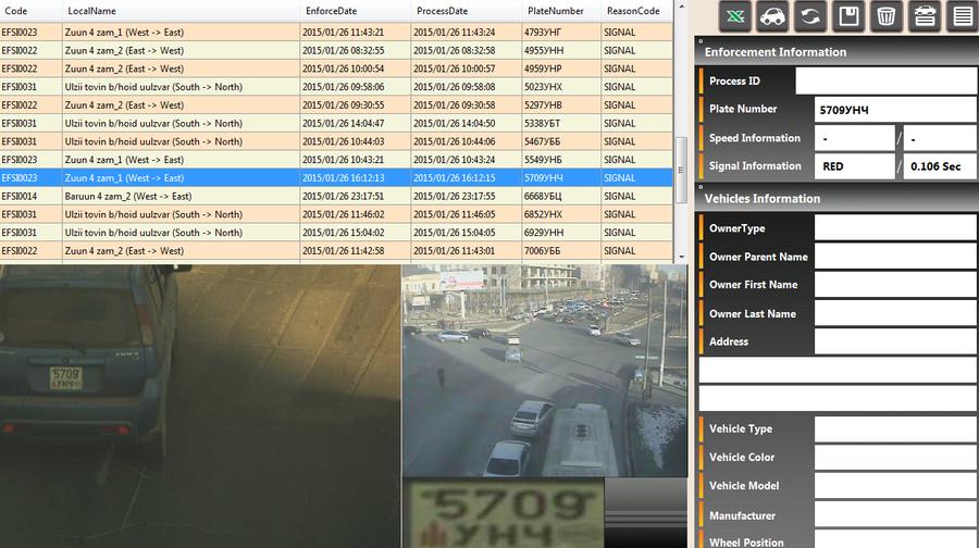 01-р сарын 26-ны өдөр замын хөдөлгөөний дүрэм зөрчсөн жолооч нарын мэдээлэл