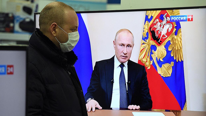 ОХУ-ын ерөнхийлөгч Владимир Путин коронавирусийн тахлын эсрэг авах арга хэмжээнүүдээ танилцуулжээ